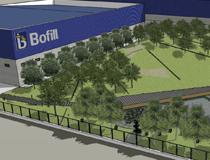 Paisagismo en el acceso a Bofill