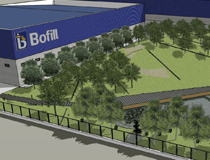 Paisatgisme de l'accés a Bofill